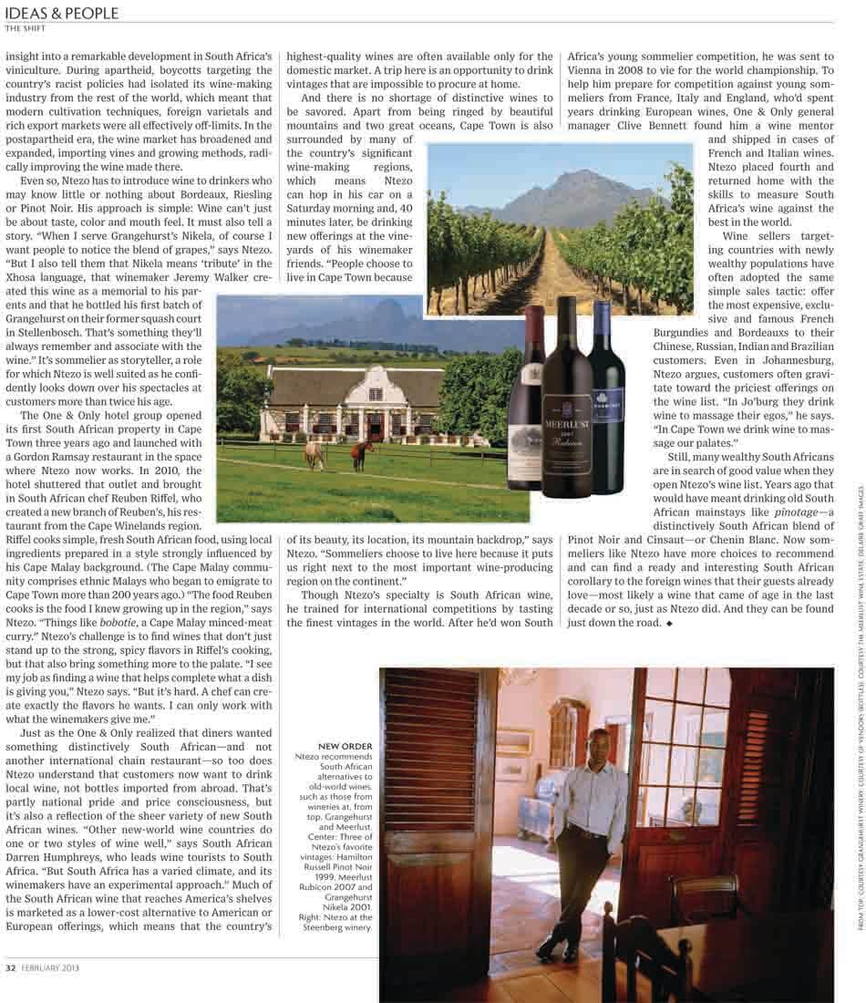 WSJ. Magazine – South Africa's Sommelier