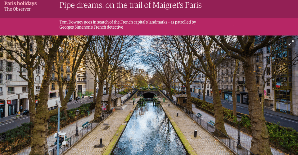 The Guardian – Pipe Dreams: on the trail of Maigret's Paris