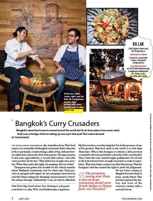 Food & Wine – Bangkok's Curry Crusaders